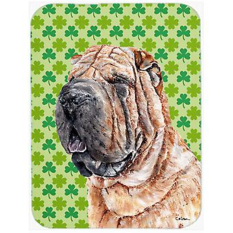 Shar Pei Lucky Shamrock St. Patrick's Day Mouse Pad, Hot Pad or Trivet