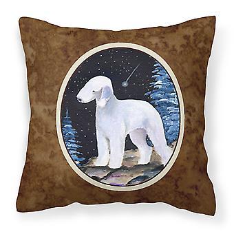 Starry Night Bedlington Terrier Decorative   Canvas Fabric Pillow