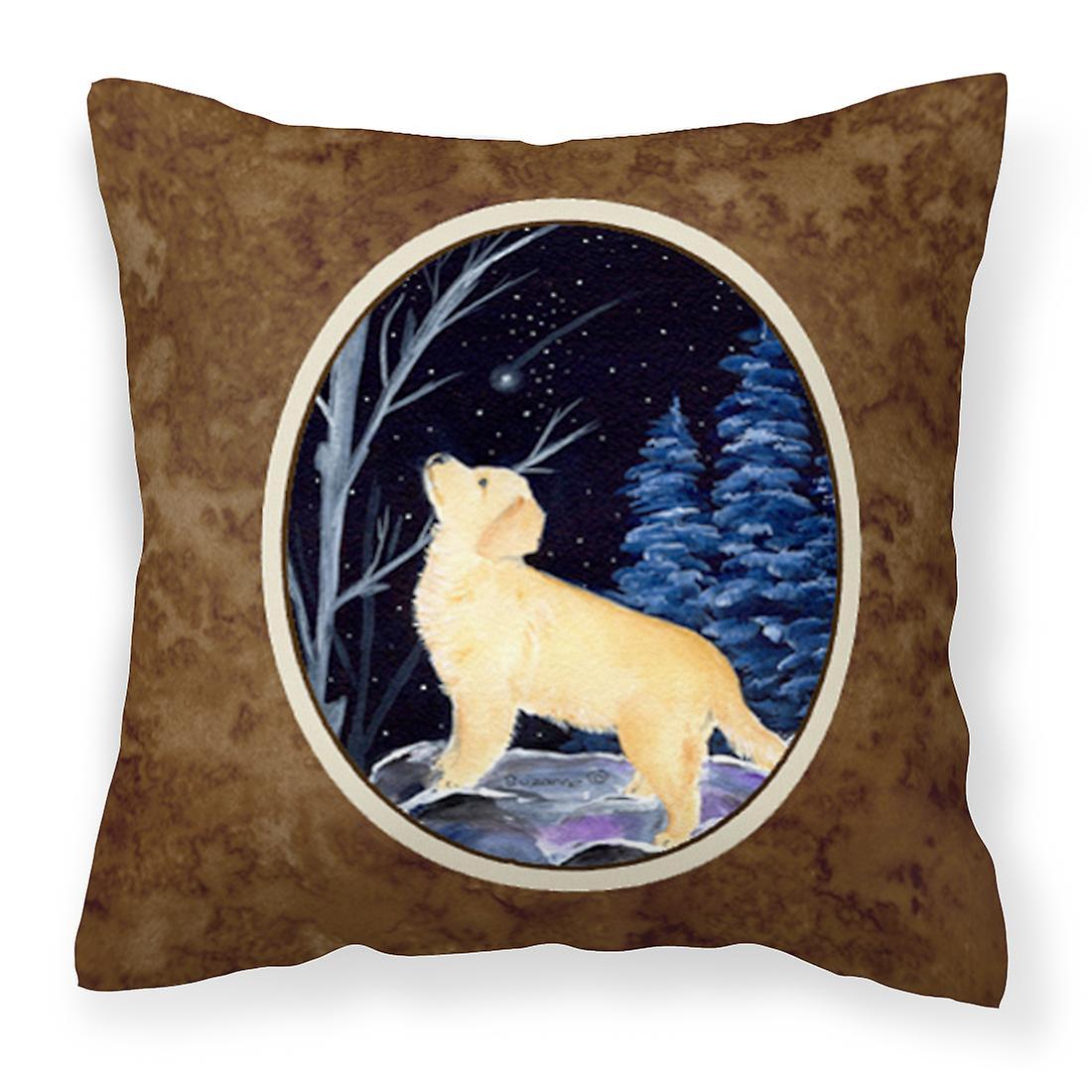 Retriever Nuit Oreiller Étoilée Tissu Décoratif Golden Toile vNmw8nO0