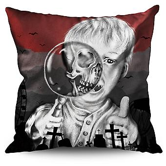 Kid Scary Scream Horror Linen Cushion Kid Scary Scream Horror | Wellcoda