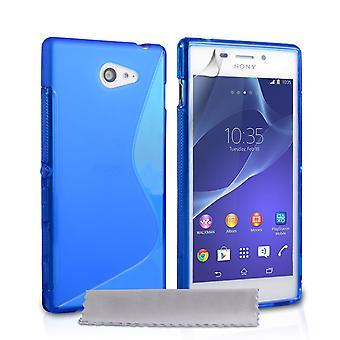 Caseflex Sony Xperia M2 Silikon Gel S-Line Case - blau