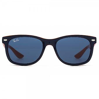 Ray-Ban Junior Wayfarer Sunglasses In Blue On Orange