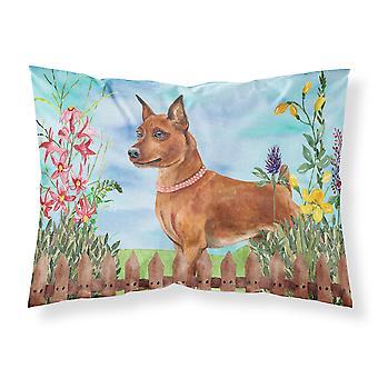 Miniature Pinscher Spring Fabric Standard Pillowcase