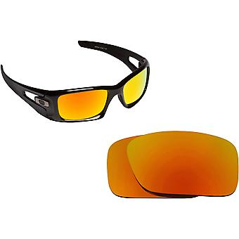 Best SEEK Polarized Replacement Lenses for Oakley CRANKCASE Fire Red Mirror