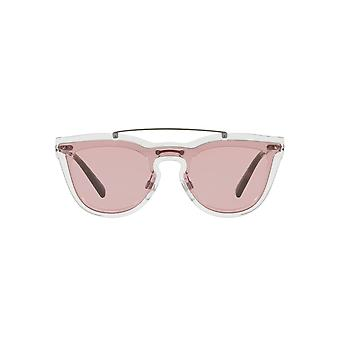 Valentino Keyhole Double Lens Sunglasses In Transparent Pink