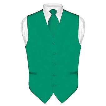 Mænds Dress Vest & slips Solid hals Tie sæt for Suit Tux