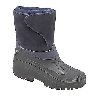 Mens Ladies Womens Thermal Waterproof Warm Lined Winter Mid Calf Boots Shoes