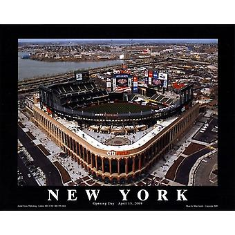 Mike Smith Citi Field New York Mets Opening Day Poster Print by Mike Smith (10 x 8)