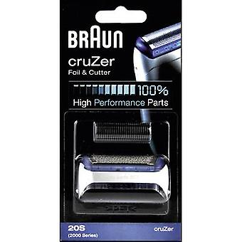Foil and cutter Braun 20S - Kombipack cruZer Silver 1 Set