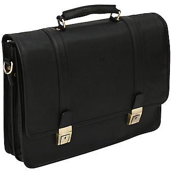 Cuir véritable poignée supérieure étui souple en cuir serviette Business sac Made In Italy