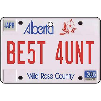 Alberta - mejor tía licencia placa ambientador