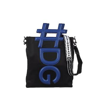 Dolce E Gabbana men BM1528AN8998I963 blue / black nylon Messenger bag