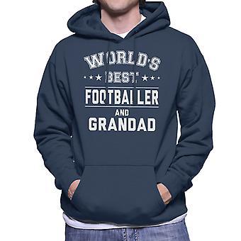 Worlds Best Footballer And Grandad Men's Hooded Sweatshirt