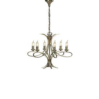 Interiors 1900 Penn 6 Light Fitting In Brushed Brass Finish