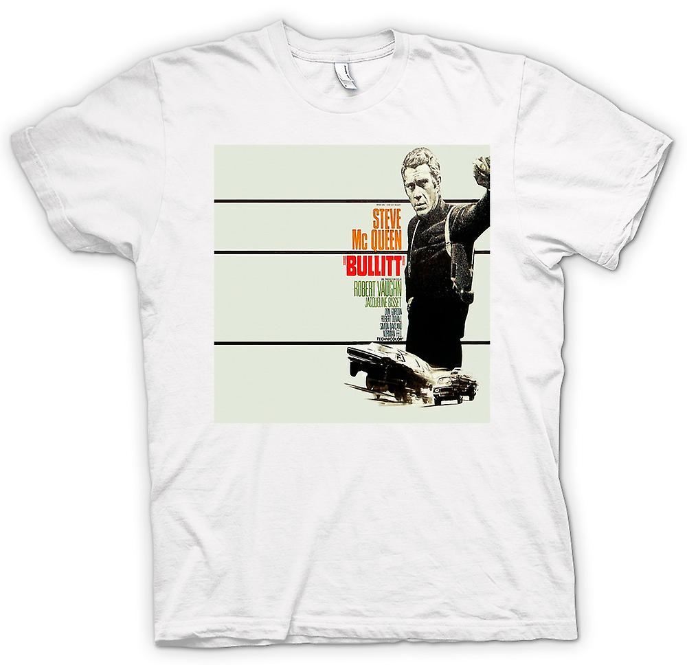 Camiseta mujer - Steve Mcqueen - Bullit - cartel