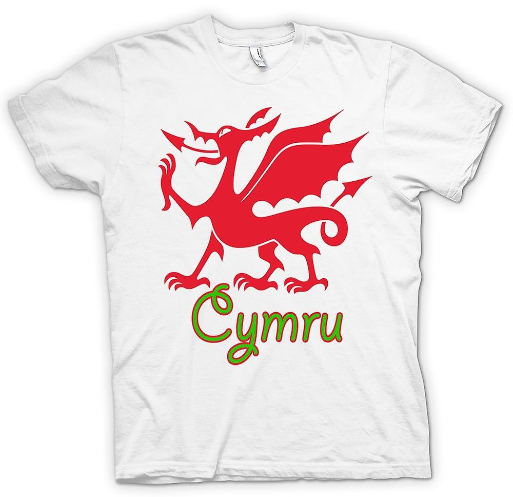 Mens T-shirt - Welsh Dragon - Cymru