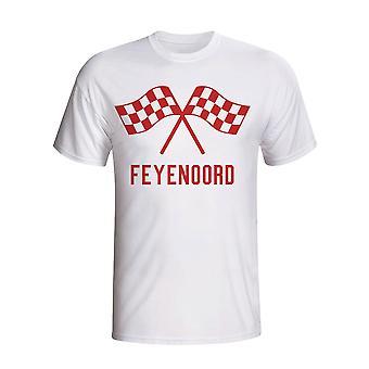 Feyenoord Waving flagg T-shirt (hvit)
