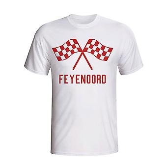 Feyenoord Waving Flags T-shirt (wit)