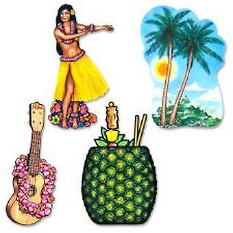 Hawaiian Luau Cutout Dekoration
