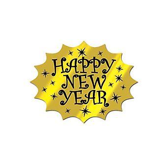 Goud folie gelukkig Nieuwjaar knipsel