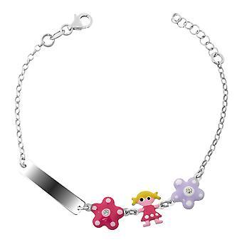 Orphelia Silver 925 Kids Bracelet Flowers + Doll Zirc  ZA-7147