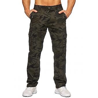 Men's Cargo Leisure Trousers Delta Camouflage Camouflage Pattern Army Military Slim stretch