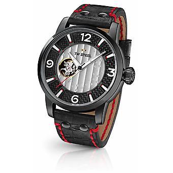 TW Steel fils de temps Supremo Limited Edition cuir noir sangle MST6 montre