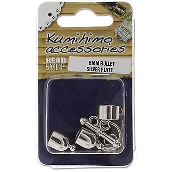 Kumihimo Bullet Finding Set 6mm-Silver-Plated