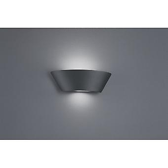 Trio Lighting Sacramento Modern Anthracite Diecast Aluminium Wall Lamp