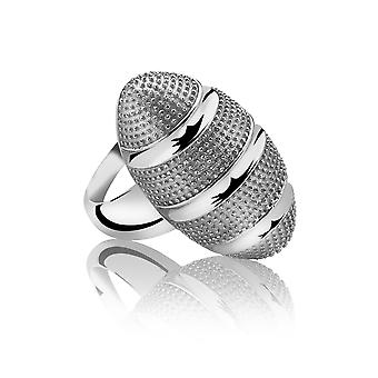Orphelia Silver 925 Ring Satin Hammered  ZR-3885