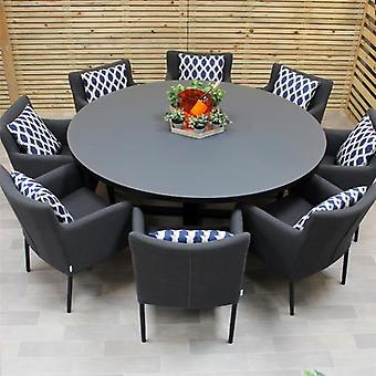 Maze Lounge Hadid 8 Seater Outdoor Fabric Round Dining Set