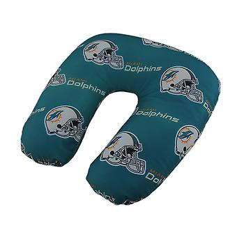 NFL Miami Dolphins Beaded Travel Neck Pillow