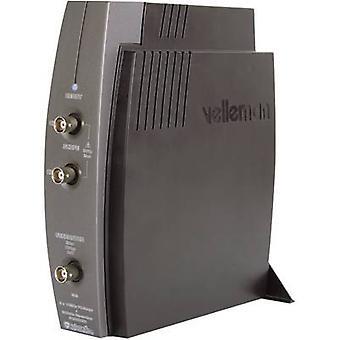 Velleman PCSGU250 USB الذبذبات 12 ميجاهرتز 4 2-قناة السعودية/s 4 kpts 8 بت رقمي مخزن (DSO)، مولد دالة، محلل الطيف