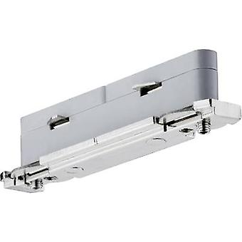 High voltage mounting rail Connector Paulmann URail System Light&Easy 95136 Silver