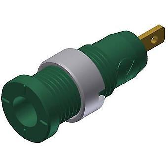 Safety jack socket Socket, vertical vertical Pin diameter: 2 mm Green