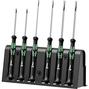 Electrical & precision engineering Screwdriver set 6-piece Wera 2035/6 A Slot, Phillips