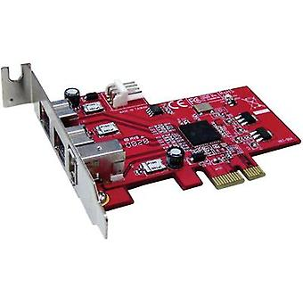 Renkforce 3 ports FireWire 800 controller card PCIe