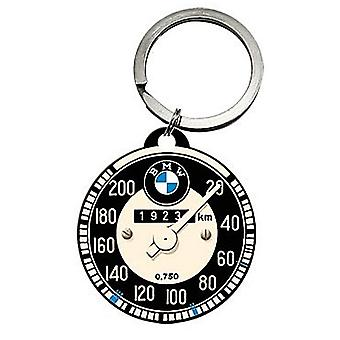 Compteur de vitesse BMW rond métal porte-clés sous licencié