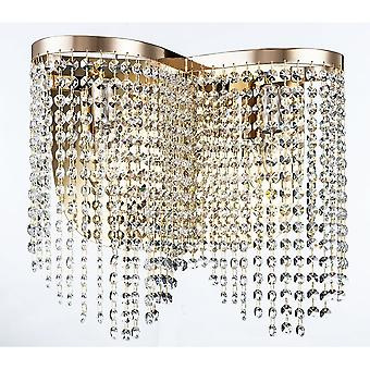 Maytoni Lighting Toils Diamant Crystal Sconce, Gold
