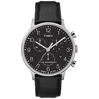 Timex Men's Waterbury Classic Chronograph Black Strap TW2R96100D7PF Watch