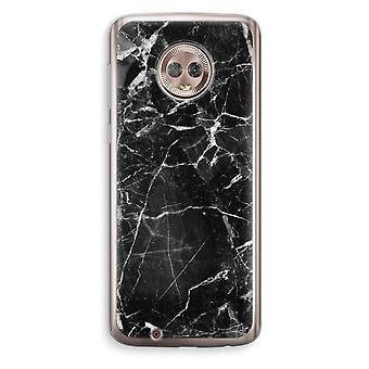 Motorola Moto G6 Transparent Case (Soft) - Black Marble 2
