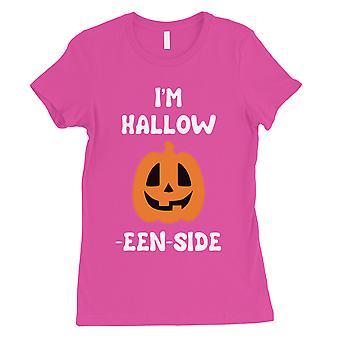 Hollow Inside Pumpkin Womens Hot Pink T-Shirt