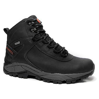 Merrell VEGO mid LTR WP mens real leather boots black