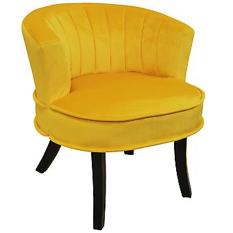 Clam - Designer Curved Shell Back Accent Occasional Chair - Yellow