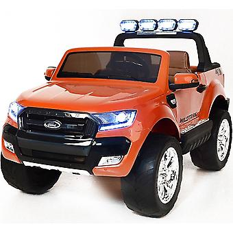 Ford Ranger Wildtrak 2017 Licensed 4WD 24V Battery Ride On Jeep Orange 2 Seater