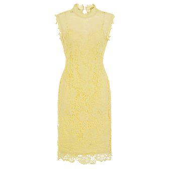 Ärmlös citron Virkad klänning