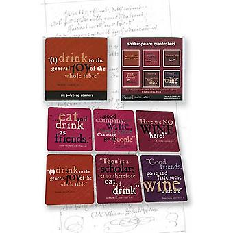 Shakespeare Quotesters food & drink set of 6 drink coasters (cw)