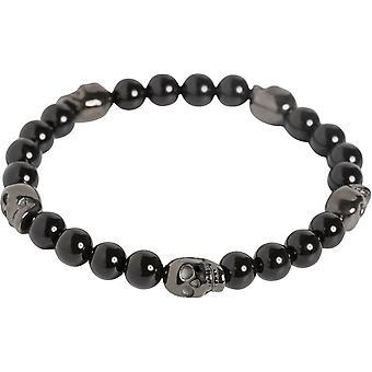 Simon Carter Onyx Bead Skull Bracelet - Black
