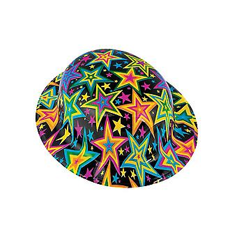 SALE - 12 Bright Stars Plastic Bowler Hats - Great for New Year's Eve