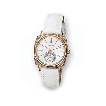 Joop! Ladies Watch White Leather Strap And Mini Dial JP100342F02